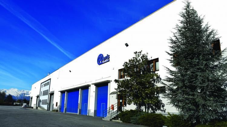 Facciata stabilimento lavorazione acciai Revis a Sant'Ambrogio di Torino
